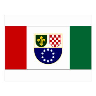 ボスニア・ヘルツェゴビナBosniacCroat連合の旗 ポストカード