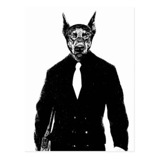 ボス犬 ポストカード