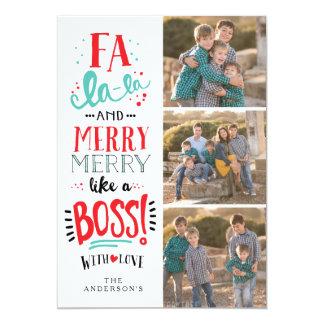 ボス|の休日の写真カードのようなFAのLAのLA カード
