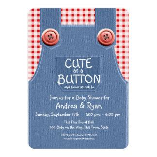 ボタンとしてかわいいデニムのオーバーオール カード