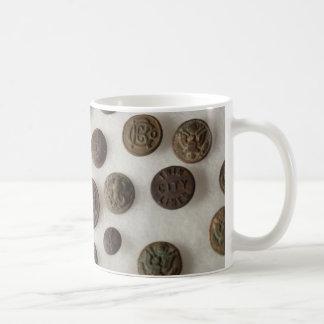 ボタンのマグ コーヒーマグカップ