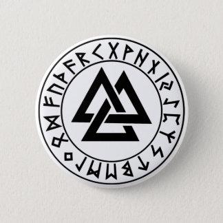 ボタンの三三角形のRuneの盾 5.7cm 丸型バッジ