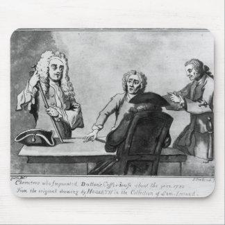 ボタンの喫茶店1730年 マウスパッド