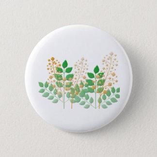 ボタンの庭の花および葉の好意 5.7CM 丸型バッジ