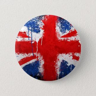 ボタンの旗イギリス 5.7CM 丸型バッジ