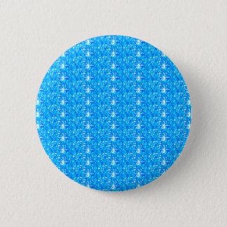 ボタンの空色のグリッター 5.7CM 丸型バッジ