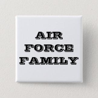 ボタンの空軍家族 5.1CM 正方形バッジ