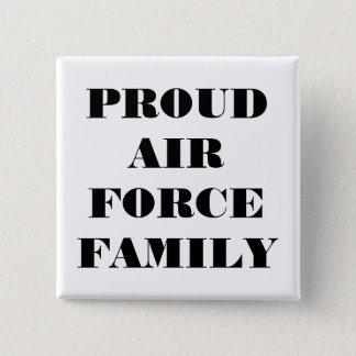 ボタンの誇りを持ったな空軍家族 5.1CM 正方形バッジ