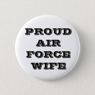 ボタンの誇り高い空軍妻 5.7CM 丸型バッジ
