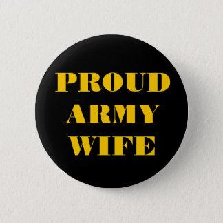 ボタンの誇り高い軍隊の妻 5.7CM 丸型バッジ