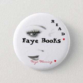 ボタンの読書Faye Fleming 5.7cm 丸型バッジ