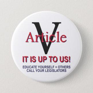 ボタンの   記事5憲法ボタン 7.6CM 丸型バッジ