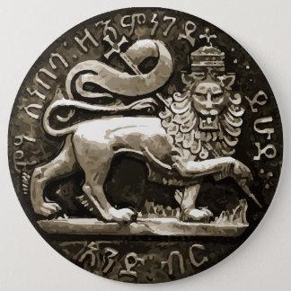 ボタンのJudahの古代デザインのラスタのライオン 缶バッジ