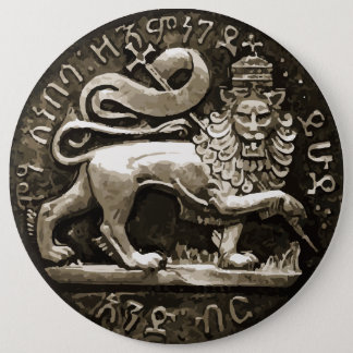 ボタンのJudahの古代デザインのラスタのライオン 15.2cm 丸型バッジ