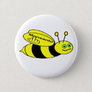 ボタンのMonsantoの蜂フリップ 5.7cm 丸型バッジ