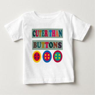 ボタンよりかわいい ベビーTシャツ