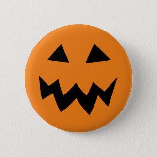 ボタンを切り分ける恐いハロウィンのカボチャ顔 5.7CM 丸型バッジ