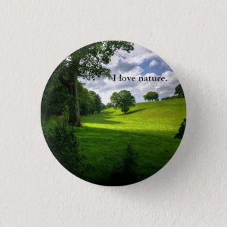 ボタンを愛する自然 缶バッジ