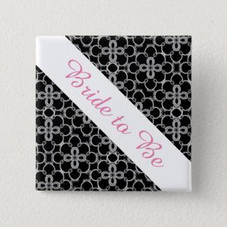 ボタンを結婚する花嫁 5.1CM 正方形バッジ