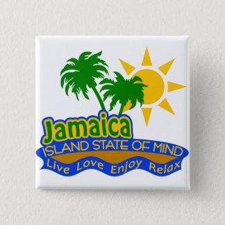 ボタンジャマイカの精神状態 5.1CM 正方形バッジ