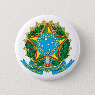 ボタンブラジルの紋章付き外衣 缶バッジ