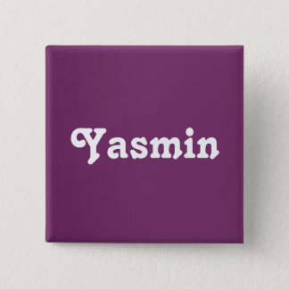 ボタンヤズミン 5.1CM 正方形バッジ