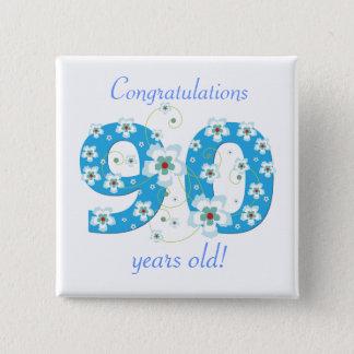 ボタン90歳の誕生日のお祝い 缶バッジ