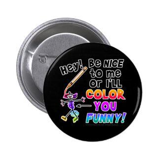 ボタン-あなたのおもしろい着色して下さい 5.7CM 丸型バッジ