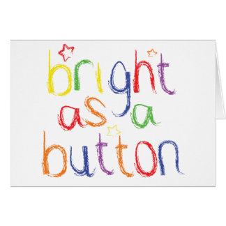 ボタン-お祝いとして明るい グリーティングカード