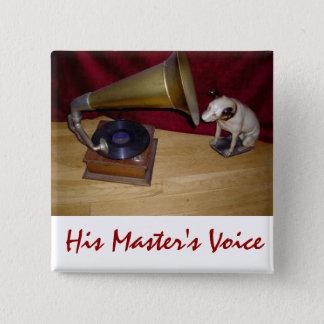 ボタン-彼のマスターの声 5.1CM 正方形バッジ
