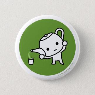 ボタン-緑茶-ドル 5.7CM 丸型バッジ