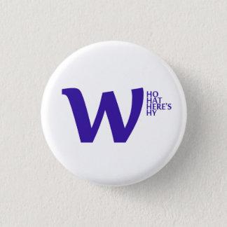 ボタン- whowhatwhereswhy.com 3.2cm 丸型バッジ