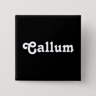 ボタンCallum 5.1cm 正方形バッジ