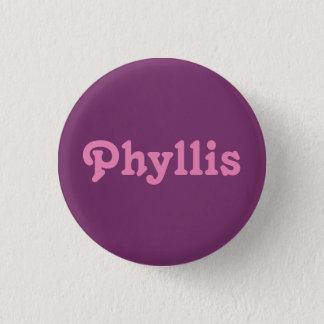 ボタンPhyllis 3.2cm 丸型バッジ