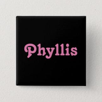 ボタンPhyllis 5.1cm 正方形バッジ