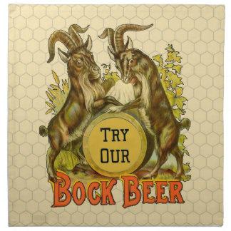 ボックビールビールヤギのヴィンテージの広告 ナプキンクロス