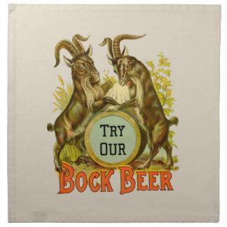ボックビールビールヤギ ナプキンクロス
