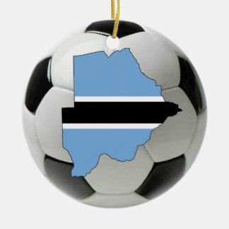 ボツワナのフットボールのサッカーのオーナメント セラミックオーナメント