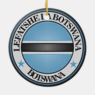 ボツワナの円形の紋章 セラミックオーナメント