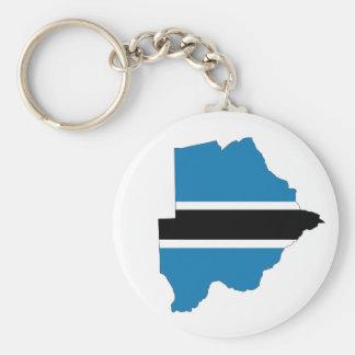 ボツワナの国旗の地図の形のシルエットの記号 キーホルダー