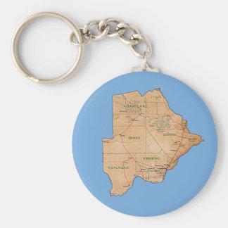 ボツワナの地図Keychain キーホルダー
