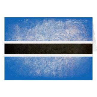 ボツワナの旗 カード