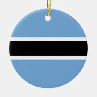 ボツワナの旗 セラミックオーナメント