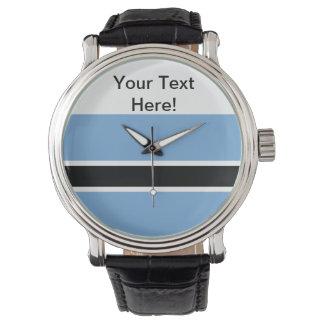 ボツワナの旗 腕時計