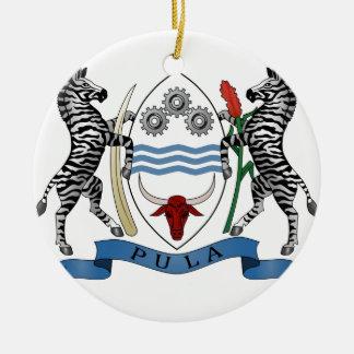 ボツワナの紋章付き外衣 セラミックオーナメント