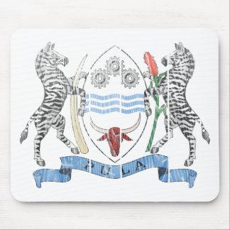 ボツワナの紋章付き外衣 マウスパッド