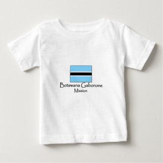 ボツワナガボローネの代表団LDSのTシャツ ベビーTシャツ