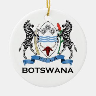 ボツワナ-または記号旗か紋章または紋章付き外衣 セラミックオーナメント