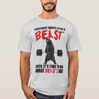 ボディビルの刺激-獣 Tシャツ