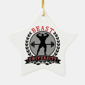 ボディビルの獣大学星のオーナメント セラミックオーナメント